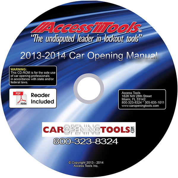 Access Tools Car Opening Manual On Cd Rom