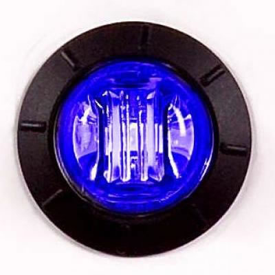 Maxxima 3 4 Quot Round Led Blue Courtesy Light With Clear